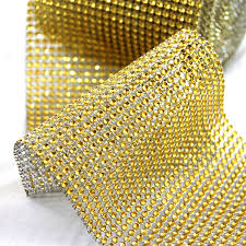 bling ribbon gold diamond wrap bling wrap rhinestone wrap diamond ribbon