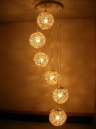 amazing hanging string lights in small rustic bedroom spaces ideas