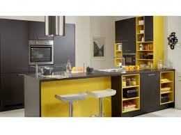 cuisine noir et jaune déco cuisine jaune et gris exemples d aménagements