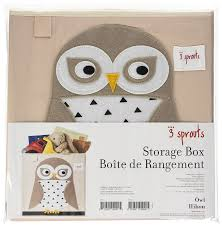 Owl Item amazon com 3 sprouts storage box white owl baby