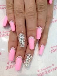 acrylic nails with simple rhinestones nails pinterest