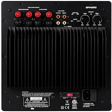 subwoofer power amplifier for home theater dayton audio spa250 250 watt subwoofer plate amplifier