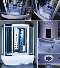 steam shower enclosure spa sauna whirlpool touch screen computer