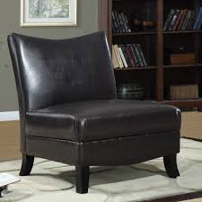 Black Leather Accent Chair Leather Slipper Chair Ideas Homesfeed