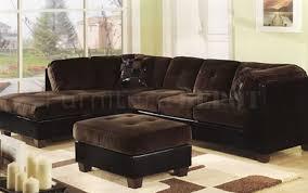 Microfiber Sofa Sectionals Sofa Sectional Chocolate Microfiber Plush S3net Sectional