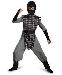 evil ninja grey kids halloween costume boys costumes