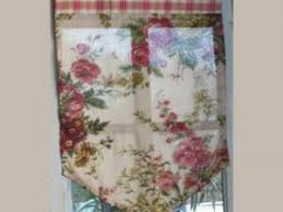 brises bises de cuisine fantaisie comptoir de famille rideaux brise bise fleurs et carreaux 47x67 cm