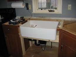 how to install farm sink in cabinet modifying standard cabinetry to accommodate an apron front