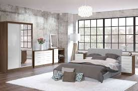 walnut and white bedroom furniture walnut and cream gloss bedroom furniture