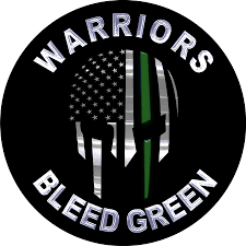 police law enforcement military decals warriors bleeds green border patrol thin green line decal