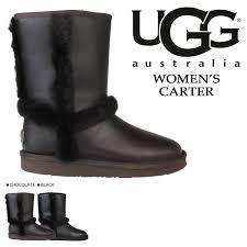 s ugg black leather whats up sports rakuten global market shearling boots womens