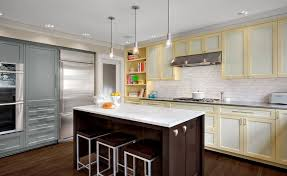 two tone kitchen cabinets trend trendy two toned kitchen cabinets home garden design ideas articles