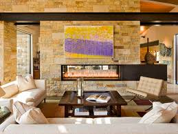 phenomenal floating gas fireplace on wall living room modern