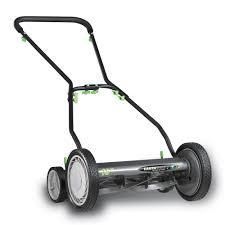 earthwise 16 in reel mower with trailing wheels 1816 16ew