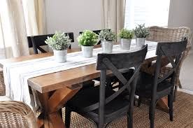 build your own dining room table of with brace farmhouse plans