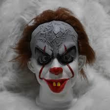 it clown halloween mask stephen king u0027s it mask scary joker mask pennywise it clown