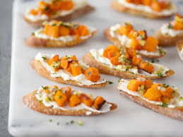 butternut squash for thanksgiving crostini with roasted butternut squash ricotta and preserved