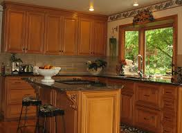 Natural Cherry Shaker Kitchen Cabinets Cabinet Refacing