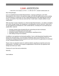 Cover Letter Example For Students Best Sales Representative Cover Letter Examples Livecareer
