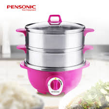 pensonic 2 in 1 stainless steel multi cooker with steamer tray 3 0