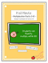 mad minute math multiplication worksheets u0026 multiplication