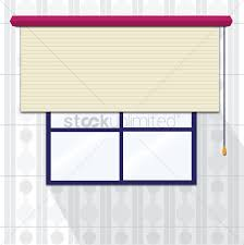 window with roller blinds vector image 1237123 stockunlimited