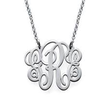 silver monogram necklace monogram necklaces monogram jewelry initial obsession
