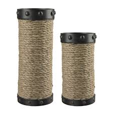 candle holders set studiolx set of 2 natural wrapped