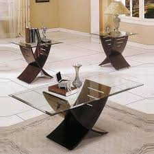 glass coffee table set of 3 steve silver company cafe 3 piece coffee table set in espresso
