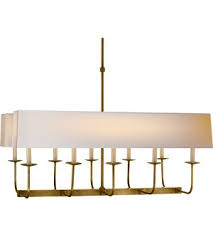 Visual Comforts Lighting Comfort E F Chapman Linear Branched Chandelier In Hand Rubbed
