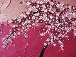 Peinture Cerisier Japonais by Fleur De Cerisier Rose Peinture Japonais Arbre Toile