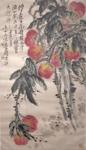 file u0027peaches u0027 ink and color painting on paper by wu changshuo