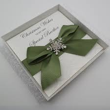 brother luxury handmade lace boxed christmas card vintage lace