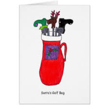golf christmas greetings greeting cards zazzle