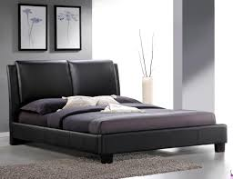 Leather Platform Bed Roggan Complete Brown Platform Bed In Faux Leather