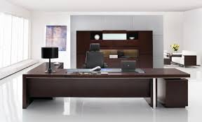 Small Dark Wood Desk Office Desk Cool Wooden Computer Desk With Lamp And White Chairs
