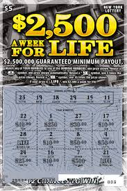 Lottery Instant Wins - fun money experiment 1 scratch lottery 2 500 a week for life