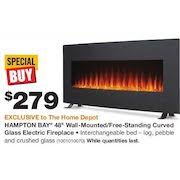 Home Depot Wall Mount Fireplace by Home Depot Hampton Bay 48 U0027 U0027 Wall Mounted Free Standing Curved