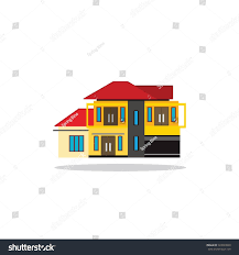 Luxury Home Design Luxury Home Design On White Background Stock Vector 523093840