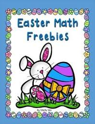easter math freebie 7 free math pages for second grade
