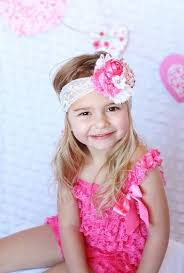 newborn headband white hot pink shabby baby headband baby girl headband newborn