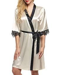 robes de chambres femmes ekouaer kimono robe de chambre femme nuit satin vêtements de