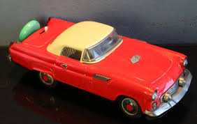 nomura japan ford thunderbird tin toy car battery operated repair