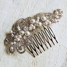 vintage hair combs pearl filigree wedding hair comb by highland angel