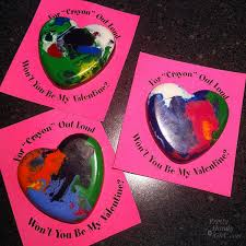 crayon valentines melted crayon heart valentines pretty handy girl