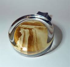horseshoe paperweight antique desk real photograph glass paperweight horseshoe falls