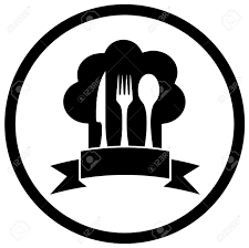 icone cuisine chef hat icon with kitchen ware utensil royalty free cliparts
