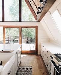 Small Kitchen Color Scheme Ideas 8993 White Kitchen With Wood Floors Mountain House