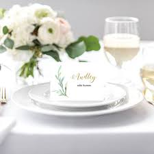 folded table place cards greenery wedding table name card template diy place cards flat and