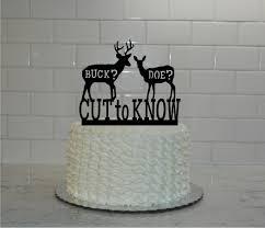 buck and doe cake topper buck or doe gender reveal cake topper buck or doe cut to